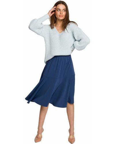 Spódnica z falbanami - niebieska Style