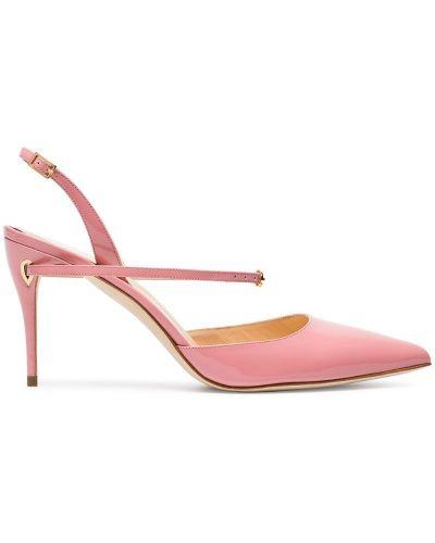 Розовые кожаные туфли с пряжкой Jennifer Chamandi