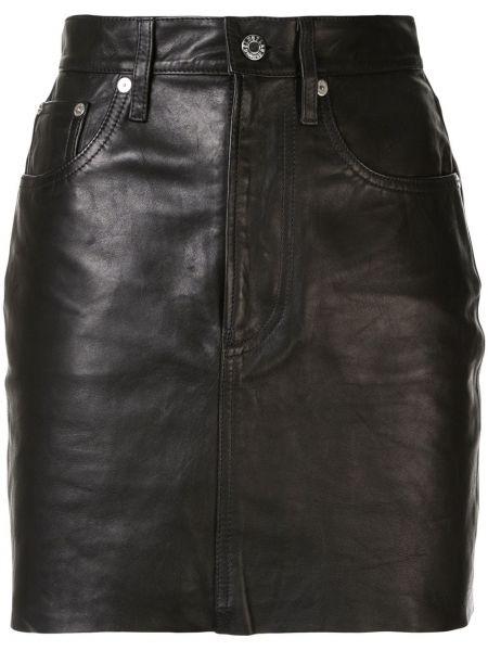 Юбка мини с завышенной талией классическая Helmut Lang