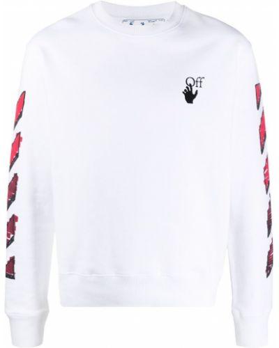 Bawełna z rękawami bluza z paskami Off-white