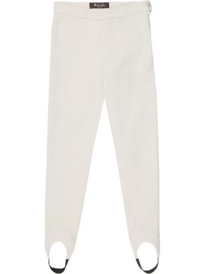 Bawełna bawełna spodnie rozciągać z mankietami Loro Piana Kids