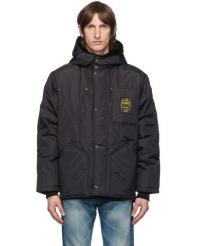 Теплая нейлоновая черная стеганая куртка с манжетами Vyner Articles