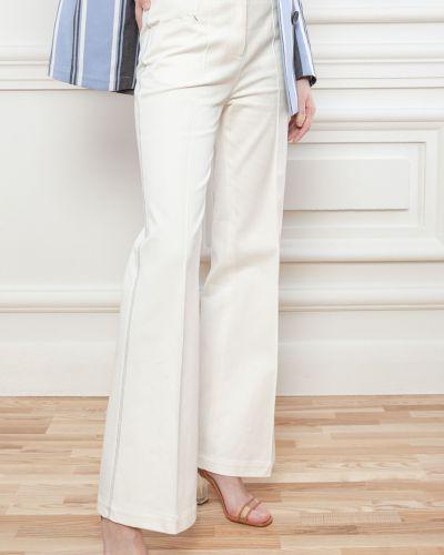 Хлопковые белые брюки Dolcedonna