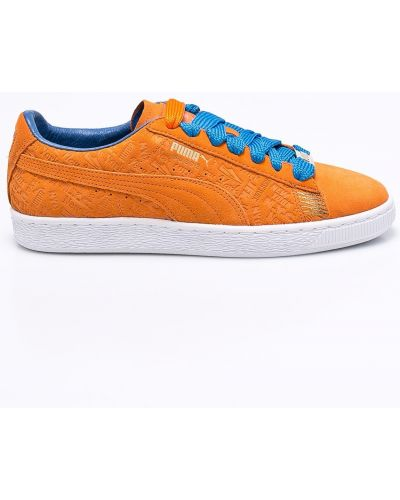 Кроссовки на шнуровке замшевые Puma