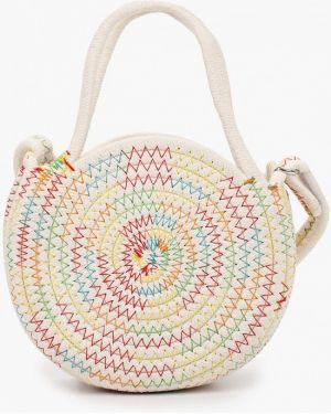 Хлопковая белая сумка United Colors Of Benetton