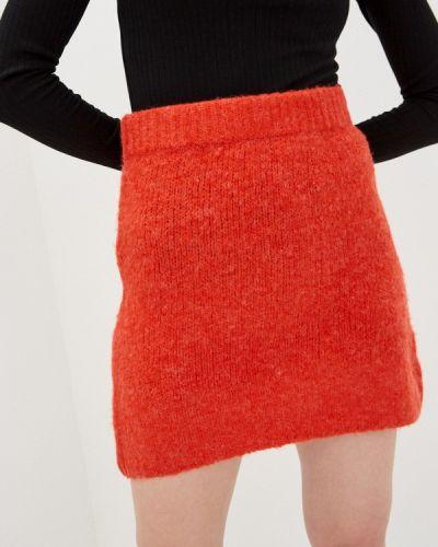 Оранжевая прямая юбка карандаш By Swan