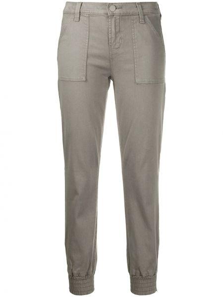 Серые брюки с манжетами узкого кроя на молнии J Brand