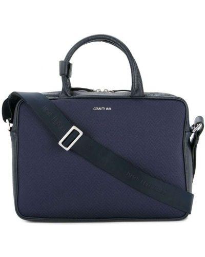 Кожаная сумка для ноутбука на плечо Cerruti 1881