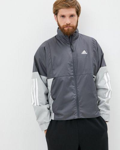 Утепленная серая куртка Adidas
