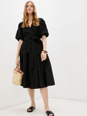 Черное платье на запах Lorani