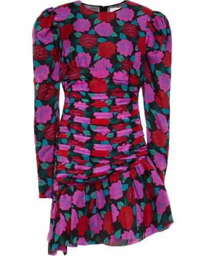Плиссированное шелковое платье мини с подкладкой Ronny Kobo