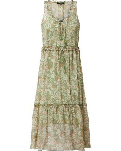 Sukienka rozkloszowana z falbanami - zielona Ilse Jacobsen