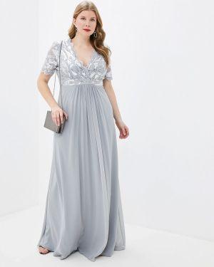 Серое вечернее платье Goddiva Size Plus