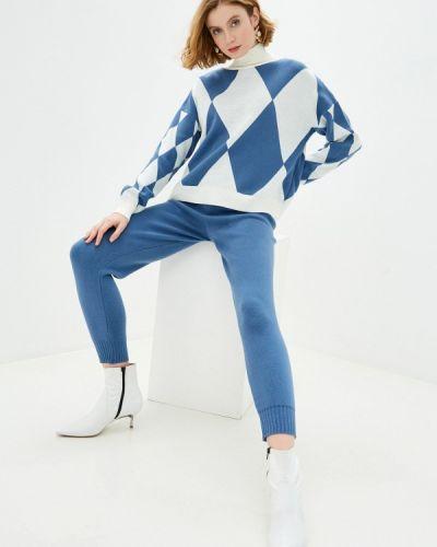Костюмный синий вязаный костюм Trendyangel