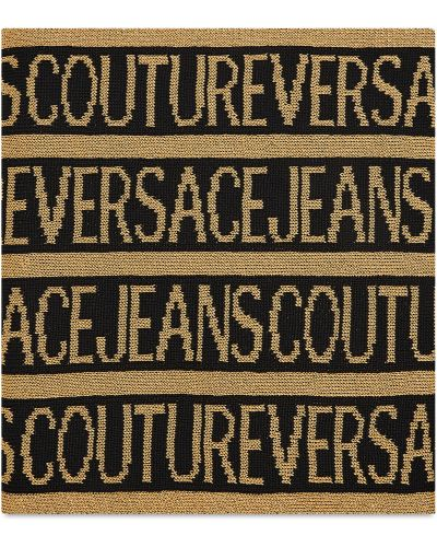 Złota szal - czarna Versace Jeans Couture