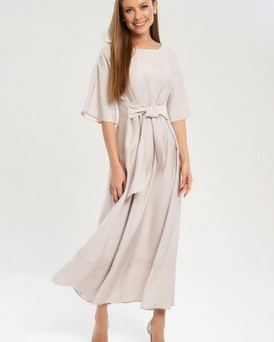 Платье прямое бежевое Akimbo