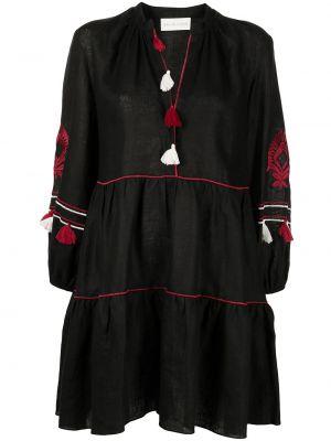 Черное платье с V-образным вырезом Sachin & Babi