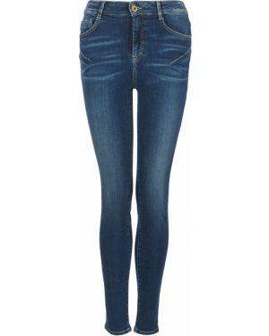 Синие укороченные джинсы с пайетками в стиле бохо скинни Miss Sixty