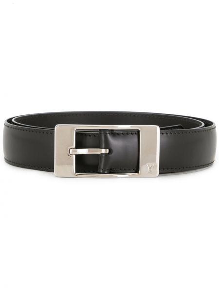 Черный кожаный ремень Louis Vuitton