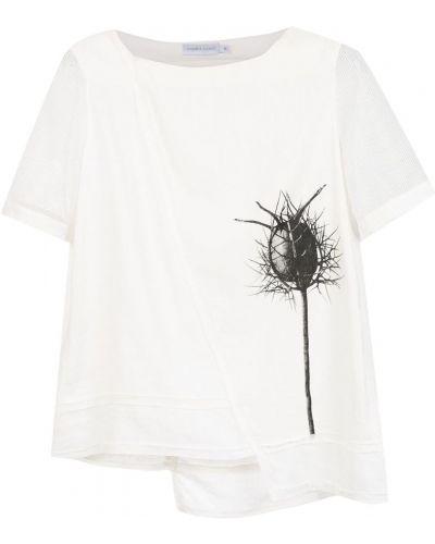 Льняная блузка - белая Mara Mac