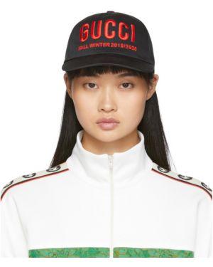 Zimowy kapelusz z logo czarny Gucci