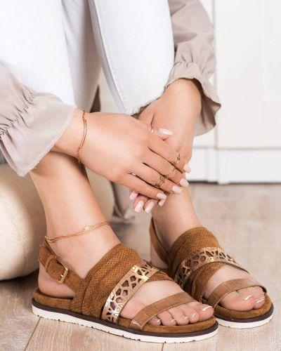 Sandały skorzane na co dzień Evento