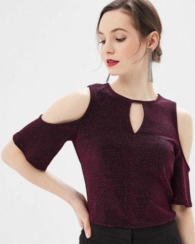 Блузка с коротким рукавом фиолетовый весенний Dorothy Perkins
