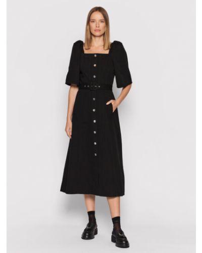 Czarna sukienka casual Gestuz