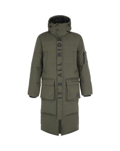 Серая длинная куртка на молнии с капюшоном Termit
