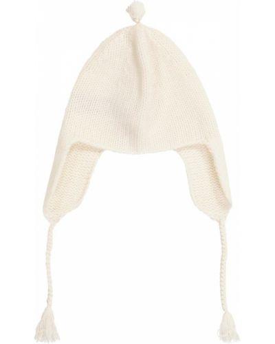Z kaszmiru biały kapelusz Bonpoint