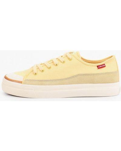 Желтые текстильные низкие кеды Levi's®