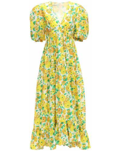 Платье макси из поплина с V-образным вырезом Philosophy Di Lorenzo Serafini