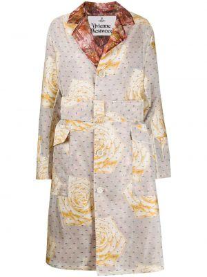 Прямое длинное пальто с капюшоном на пуговицах Vivienne Westwood