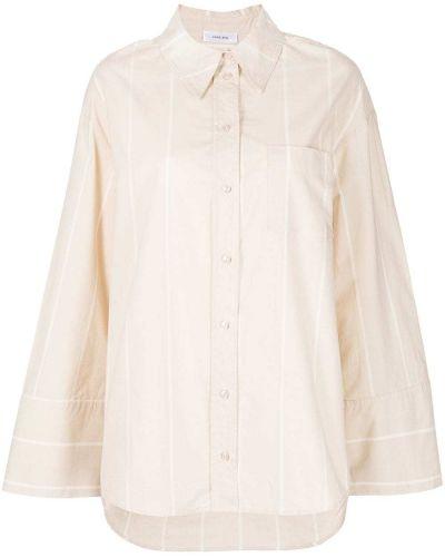 Хлопковая рубашка с карманами в полоску с воротником Anine Bing