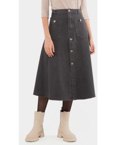 Серая джинсовая юбка Mr520
