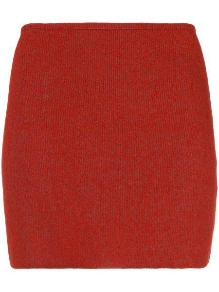Ватная нейлоновая черная с завышенной талией юбка мини Yeezy