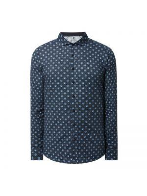 Niebieska koszula bawełniana w paski Desoto