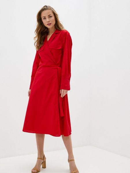 Однобортное красное платье Massimiliano Bini