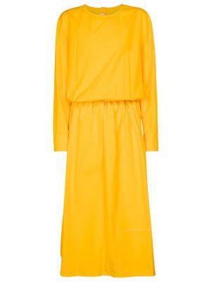 Хлопковое платье миди - желтое Marni