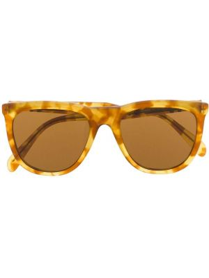 Коричневые прямые муслиновые солнцезащитные очки круглые Persol Pre-owned