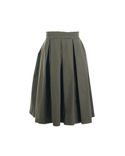 Хлопковая юбка миди - зеленая History Repeats
