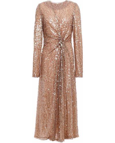 Вечернее платье с пайетками с подкладкой металлическое Galvan  London