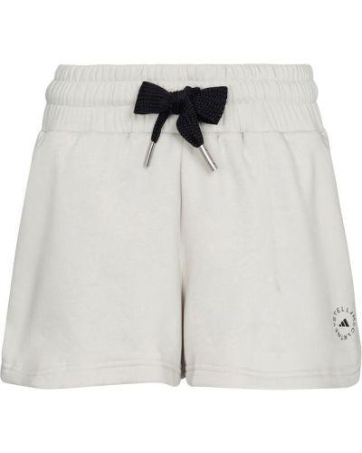 Трикотажные белые шорты для бега Adidas By Stella Mccartney