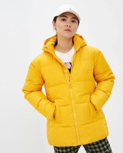 Желтый пуховик Adidas Originals