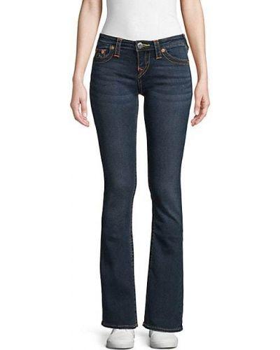 Хлопковые синие джинсы классические с карманами True Religion