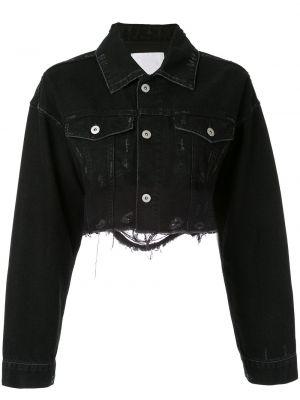 Черная джинсовая куртка с манжетами на пуговицах Ground Zero