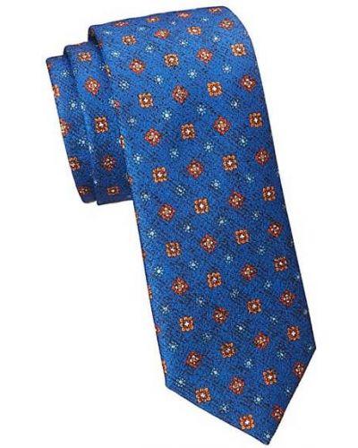 Шелковый синий медальон с вышивкой Saks Fifth Avenue