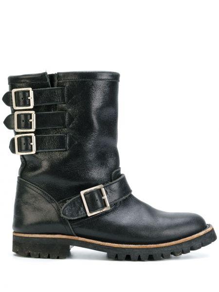 Кожаные черные ботинки байкерские винтажные Comme Des Garçons Pre-owned