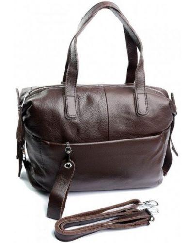 Кожаная сумка - коричневая Parse