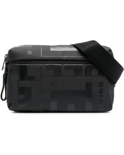 Черная поясная сумка на молнии с карманами Diesel